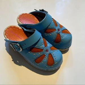 Hanna Andersson Leather Clogs Mules Shoes 27 10
